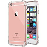 """iPhone 6 Case, iPhone 6s Case, Clear Shockproof Bumper Anti-Scratches Cover, Jenuos Soft TPU Silicon Case for Apple iPhone 6 / 6S 4.7"""" (I6-TPU-CL)"""
