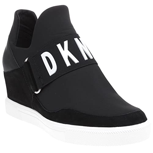 f55d2ded244 DKNY Cosmos Sneaker Wedge Trainers Black 6 UK  Amazon.co.uk  Shoes   Bags