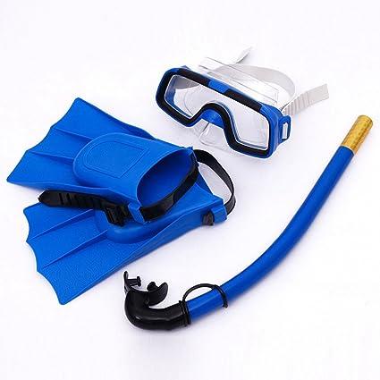 FAVOLOOK Juego de gafas de buceo para niños, azul: Amazon.es: Deportes y aire libre