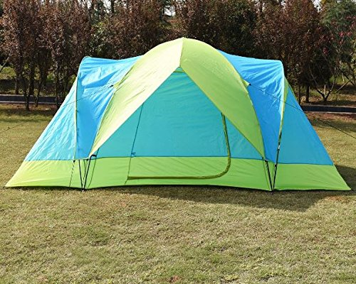K&A Company Waterproof 10 Person Outdoor Double Layer Backpack Camping Tent Hiking New Green