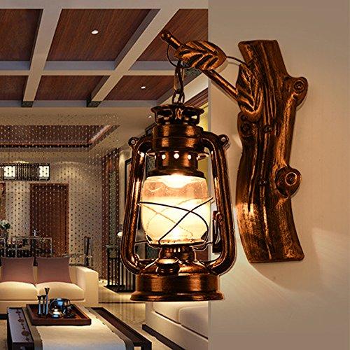 JINGUO Lighting Rustic Lantern Wall Mounted Light Industrial Vintage ...