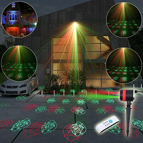 Halloween Projector,Halloween Laser,LED Waterproof Outdoor Stage Laser Light Rotating Projectors Landscape Spotlight 12 Patterns for Holiday,Halloween,Thanksgiving and Christmas Decoration