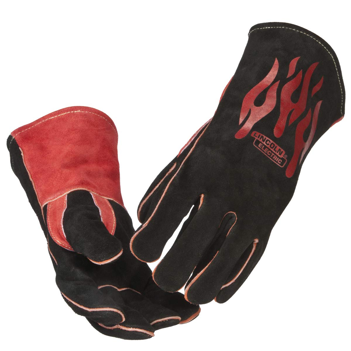Lincoln Electric Traditional MIG/Stick Welding Gloves   14'' Lined Leather   Kevlar Stitching   K2979-ALL