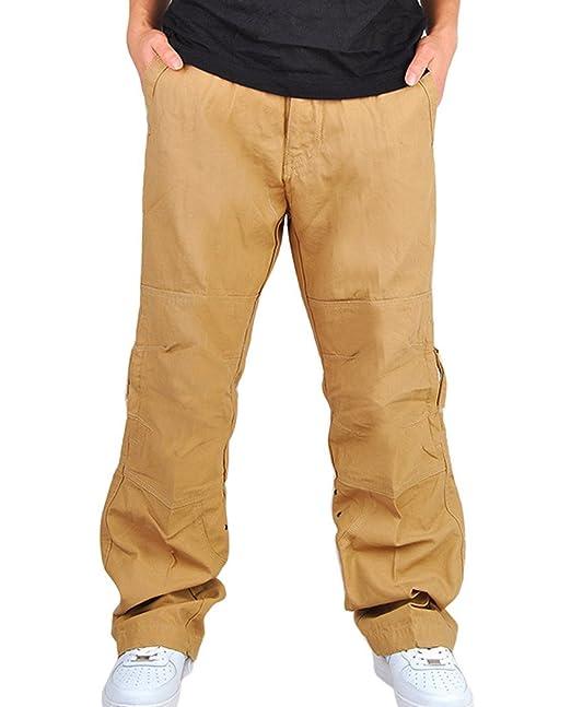 Feoya Herren Cargo Hose Wasserwäsche mit Reißverschluss Freizeithose  Mehrere Tasche Feldhose aus Baumwolle Loose-Fit Arbeitshosen in  Verschiedener Farben  ... a8c0943535