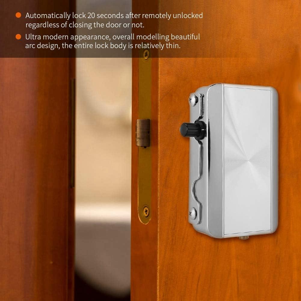 Cerradura de puerta inteligente cerradura de seguridad antirrobo inteligente para el hogar Cerradura de control remoto inal/ámbrico Seguridad Entrada de puerta sin llave invisible con 4 teclas remotas