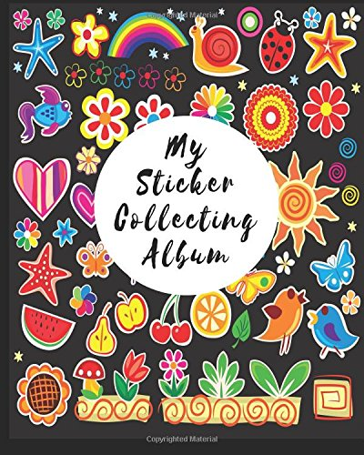 My sticker collecting album blank sticker book 8 x 10 64 pages