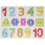 Baybee Wooden Number and Shape Puzzle
