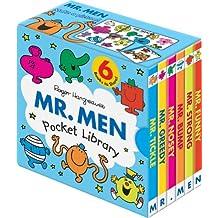 Mr. Men Pocket Library 6 Books Collection (Mr. Bump Mr. Strong Mr. funny Mr. ...