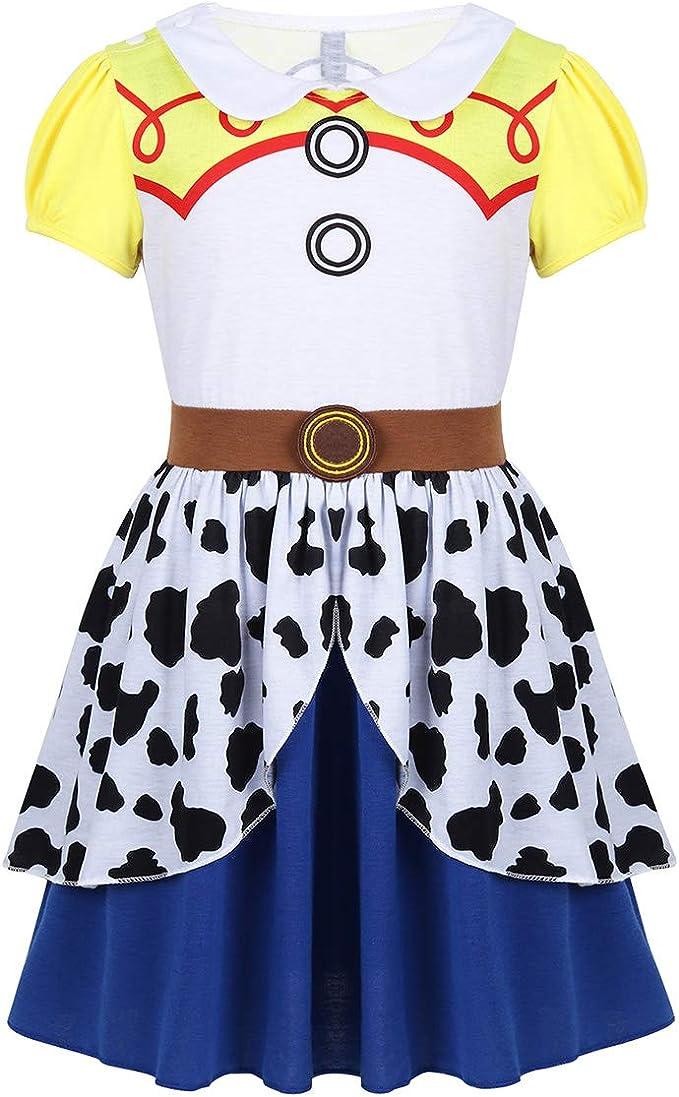 dPois Disfraz Cowgirl para Niña Vestido de Pincesa Vaquera ...