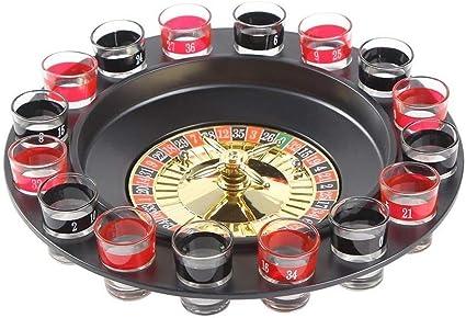 Ohuhu Juego de Beber Ruleta Embalaje de Regalo Juego de Beber para Adultos con 16 Vasos y 2 Bolas Drinking Roulette Set: Amazon.es: Juguetes y juegos