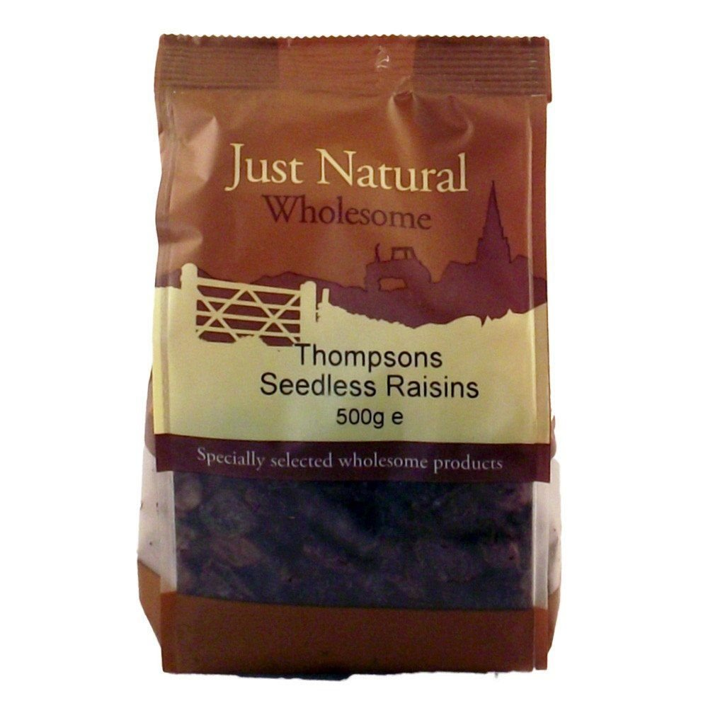 Just Natural Wholesome Raisins Seedless 500g
