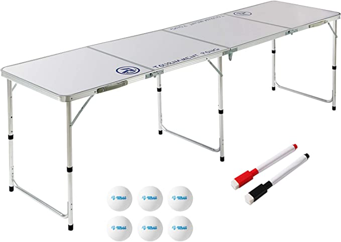 Rally and Roar 8 Foot Beer Pong Table - Best Portability