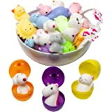 Mochi Squishy Toys Animal Squishies - 3 Surprise Eggs Mini Kawaii Cat Squeeze 16pcs Stress Relief Toys Squishys Unicorn…