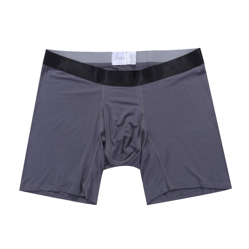 Y2Y2 Men's Modal Underwear Long Leg Boxer Brief YU5338