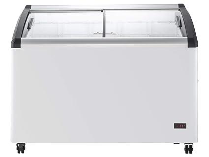 Chefs Exclusivo comercial móvil Ice Cream Display Baúl Congelador ...