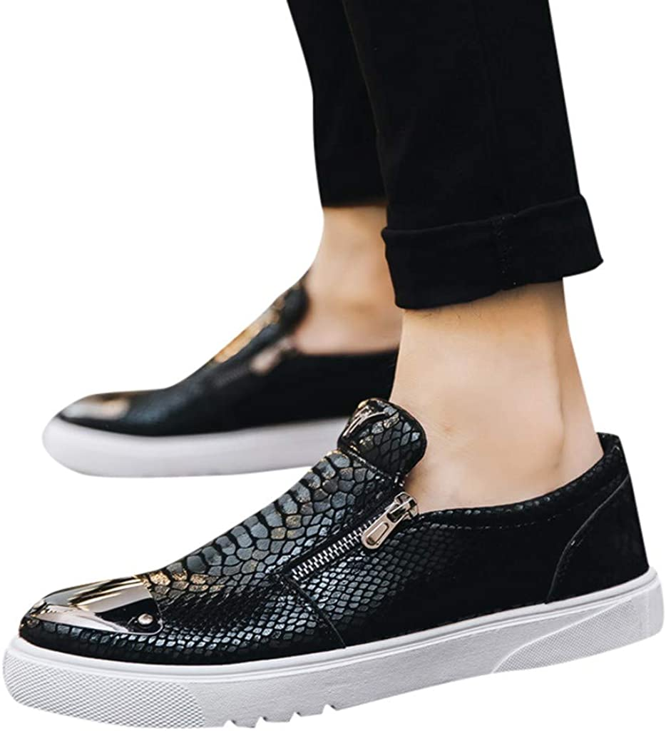 Toraway Mens Casual Sports Trend Korean Plate Shoes Bright Face Youth Shoes Non-Slip Shoes Relaxed fit Shoes