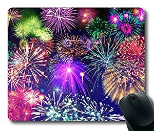Rectangle mouse pad Diy Design Fireworks Colorful by mcsharks