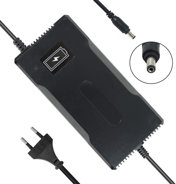 YZPOWER 54.6V 4A Cargador de batería para Patinete electrico, Cargador para Bicicleta eléctrica, 48V Litio Cargador de Batería, CC 5,5 mm, 2,1 mm Conector
