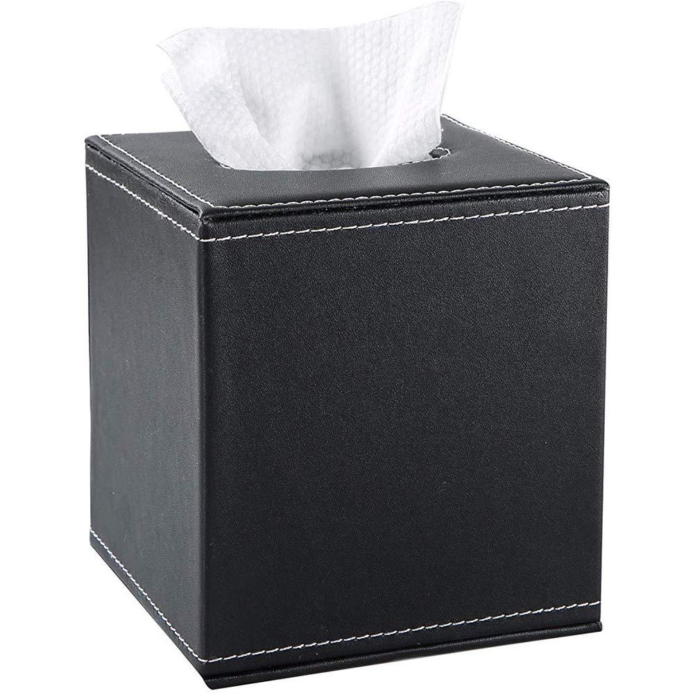portatovaglioli Nero per casa Porta tovaglioli in Pelle PU Carta velina Ufficio Julyfun Kleenex