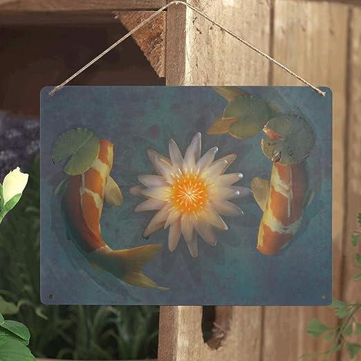 Metal Koi Fish Home Decor
