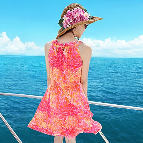 Short Kleider Dress Frau Rock Sommer Beach Frau As Seaside Neckholder Shown wxwT1OS