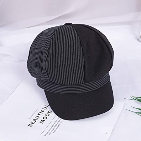 sdssup Gorra británica Retro Pareja Sombrero Mujer Marea Negra M ...