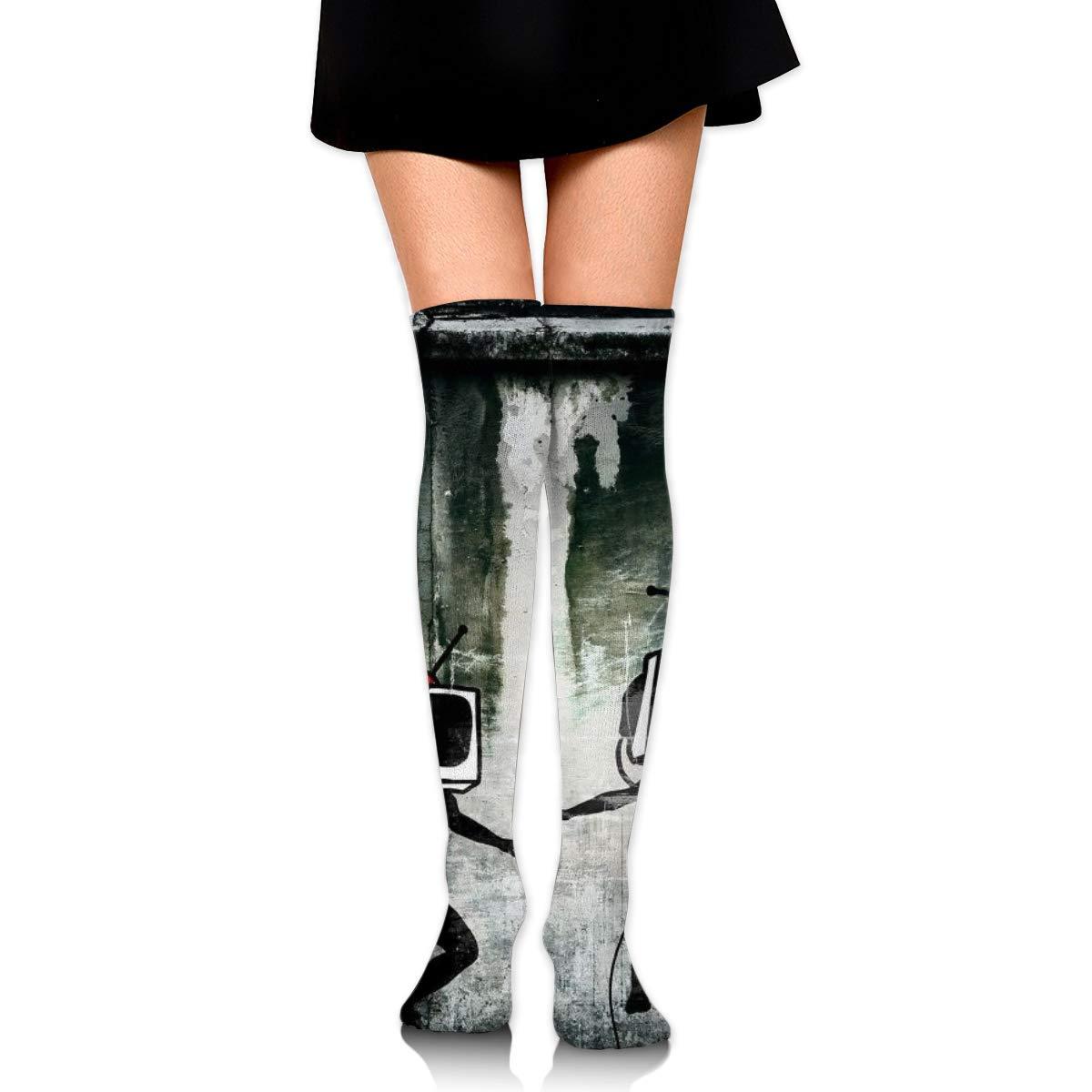 Kjaoi Girl Skirt Socks Uniform Street Radio Women Tube Socks Compression Socks