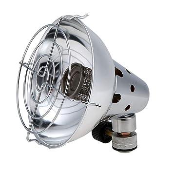 Walmeck- Estufa de Gas Portátil Al Aire Libre Calentador de Calefacción Encendido Piezoeléctrico
