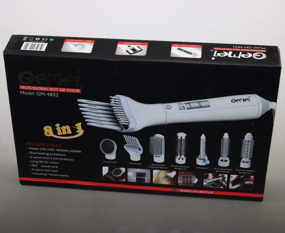 Secador de pelo ondulador rizador cepillo alisador 8 en 1 multinacional: Amazon.es: Belleza