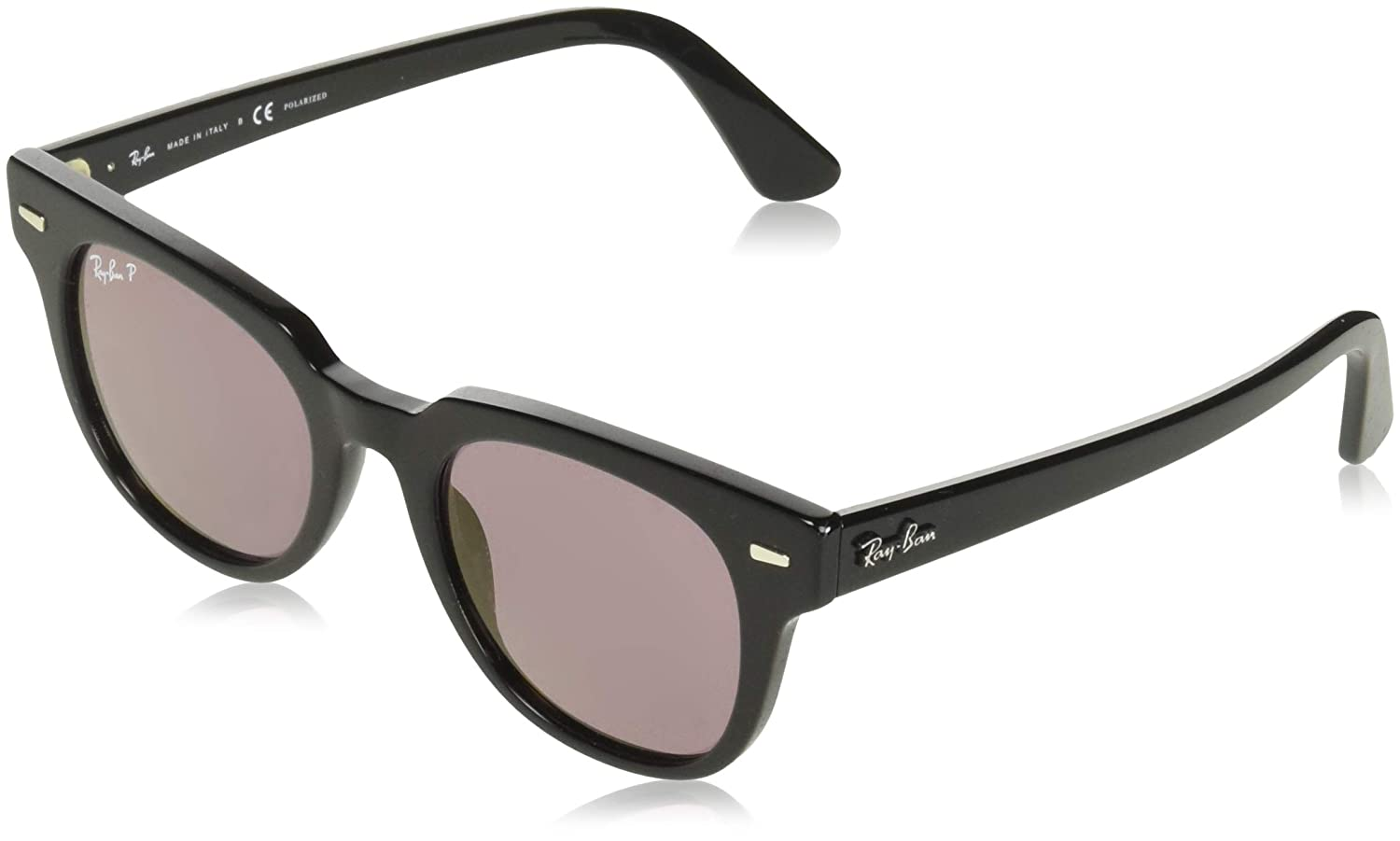 581155084b6 Amazon.com  Ray-Ban 0rb2168 Polarized Iridium Square Sunglasses Black 51.0  mm  Clothing