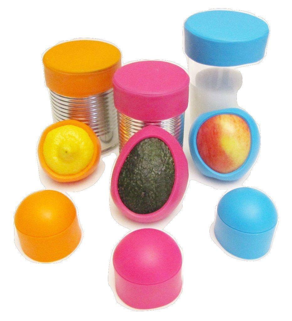 Seally Cap Reusable Silicone Food Saver, Set of 3