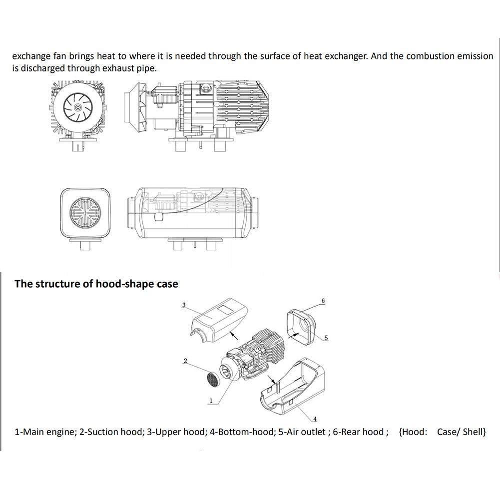 MTSBW Aire Diesel Calentador del Coche 5KW 12V Aire Estacionamiento Diesels Calefactor con Control Remoto Monitor LCD para RV Autocaravana Camiones De ...