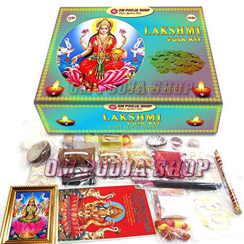 Om Pooja Shop Lakshmi Puja Kit Pooja Samagri Hindul Goddess Laxmi Festival