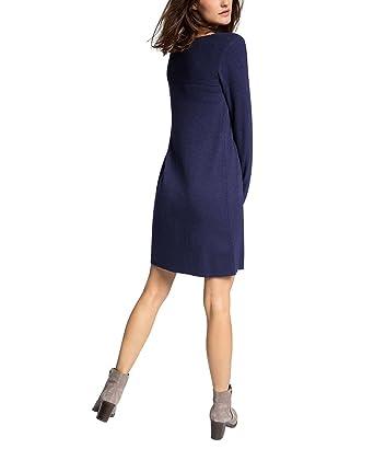 Esprit damen kleid mit kaschmiranteil knielang