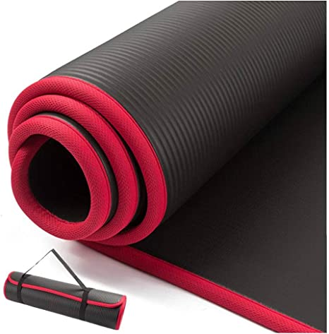 Guai Eco Friendly Yoga Mat 10mm Extra Thick 183cmx61cm Nrb Non Slip Yoga Mats For Fitness Tasteless Pilates Gym Exercise Pads With Bandages Amazon Co Uk Sports Outdoors