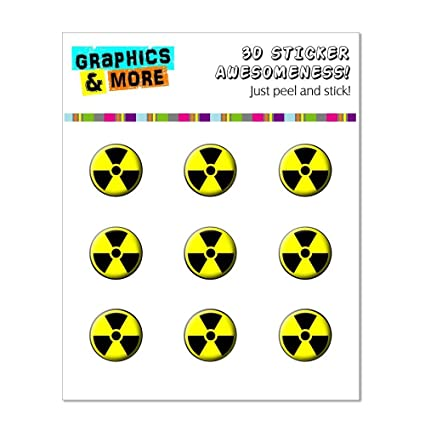 Graphics And More Radioactive Symbol Home Button Stickers Fits Apple