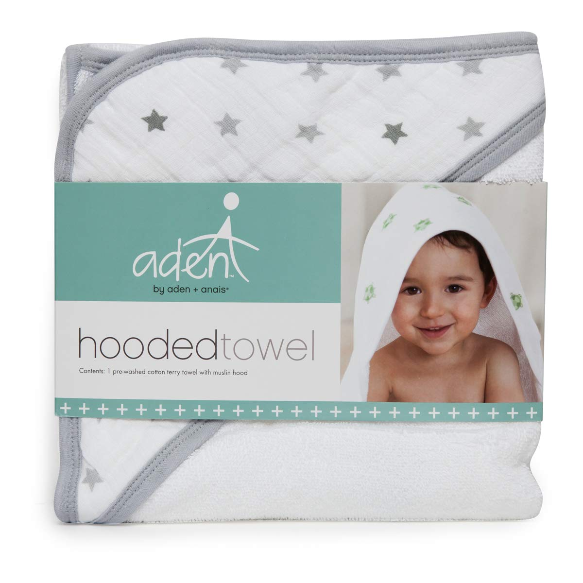 anais Hooded Towel Set aden Dove