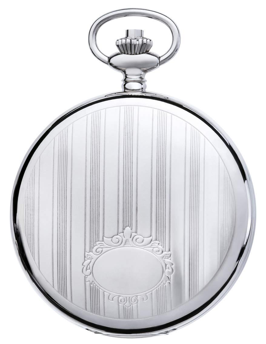 JEAN JACOT fickur – tidlös accessoar för färgglada män – öppet obehag – skelettverk med handskydd – inklusive kedja (hus-Ø 53 x 16 mm) silver