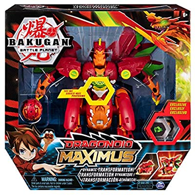 Bakugan 6051243 BTB Dragonoid Maximus UPCX GML, Multicolour: Toys & Games