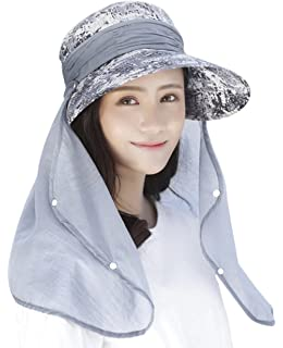Petite Fortune Spring Summer Women/'s Bucket Beach Hat Cotton Fold Up Wide Brim Foldable Sun Bucket UPF 50 Protection Anti-UV Floppy Cap For Girls Travel Holiday Outdoor