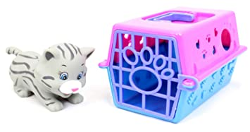 Little Pet Box Animal In Carry Case Cat Carrier Toy Cat Amazon Co