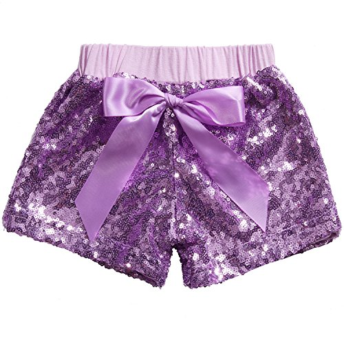 - Cilucu Girls Shorts Toddler Sequin Shorts Sparkles on Both Sides Purple 4T