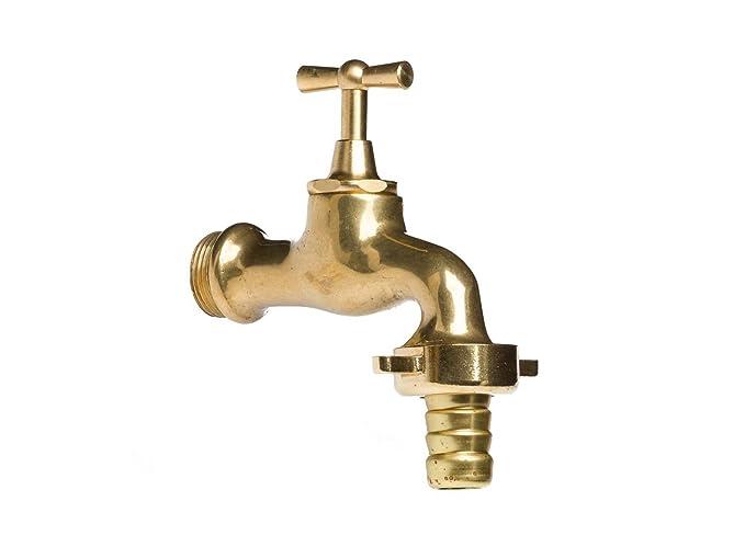 Wasserhahn Auslaufventil Messing 3//4 Zoll im antik Stil Garten Brunnen faucet