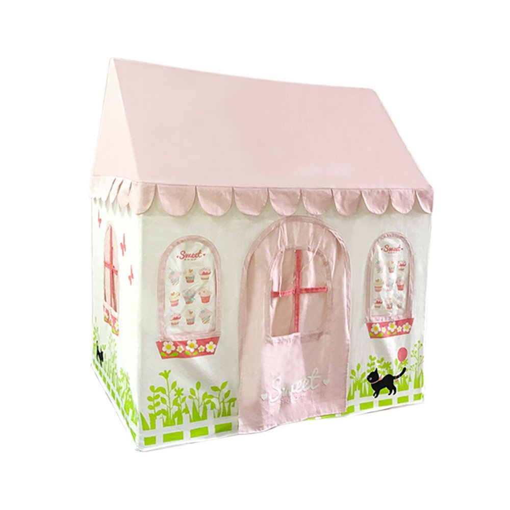 Asweets Cupcake House Cotton Canvas Play Tent, Pink by Asweets (Image #1)