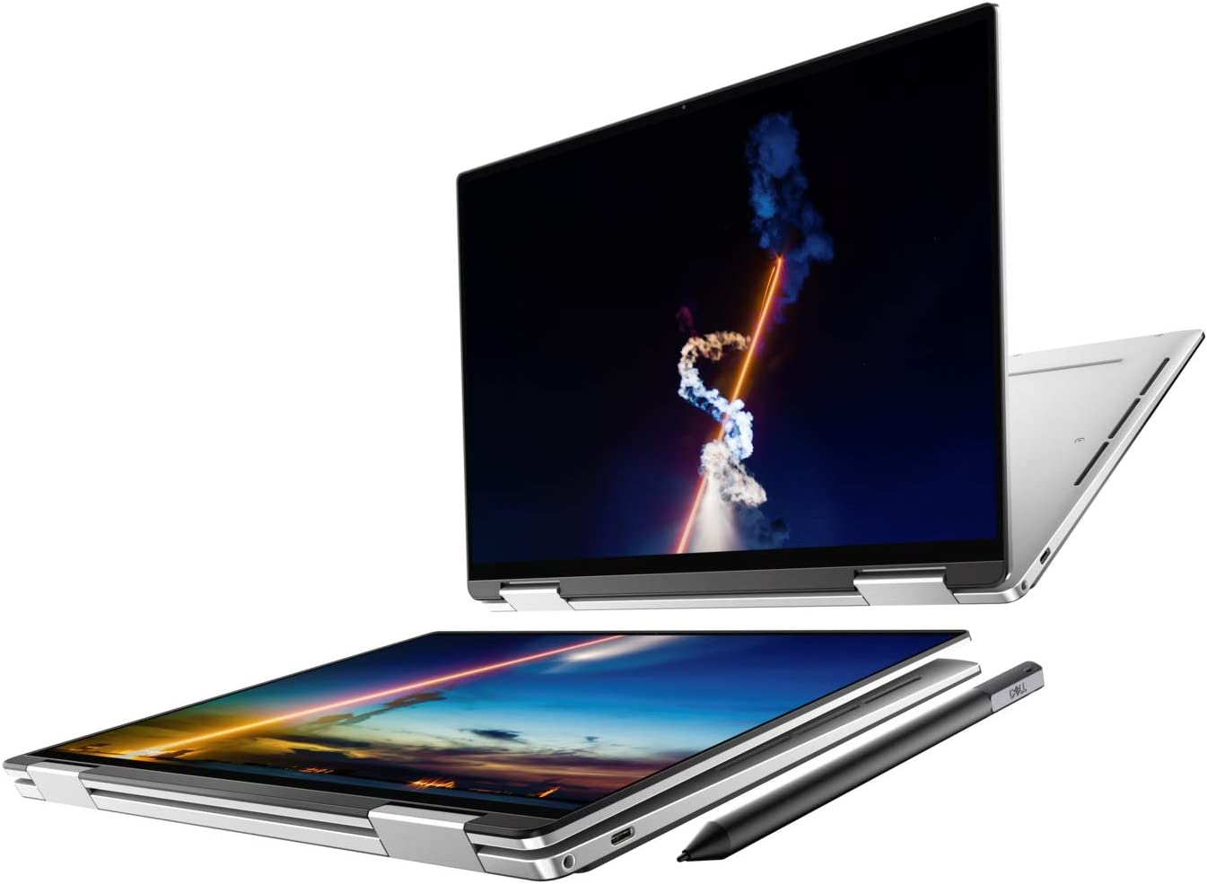 "New XPS 13 2-in-1 7390 Intel's 10th Gen i7-1065G7 Intel Iris Plus Graphics 13.4"" 4K UHD Touch Display Premium Active Stylus Pen + Best Notebook Pen Light (1TGB SSD