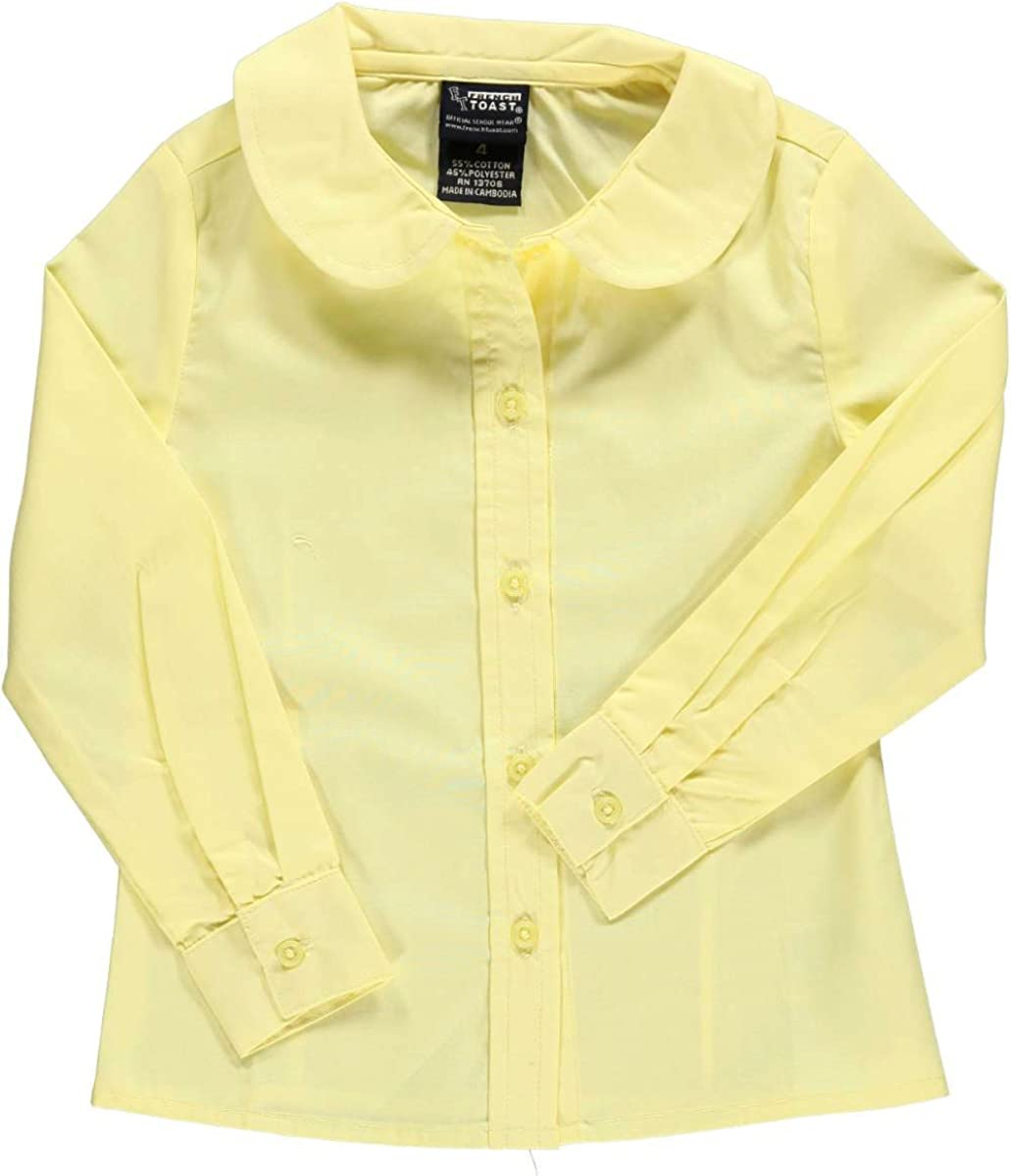 French Toast Big Girls Plus S//S Peter Pan Fitted Shirt