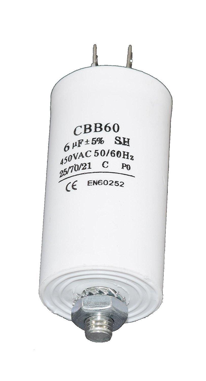 Ufixt® - Condensador de arranque universal 6UF Microfarad para ...