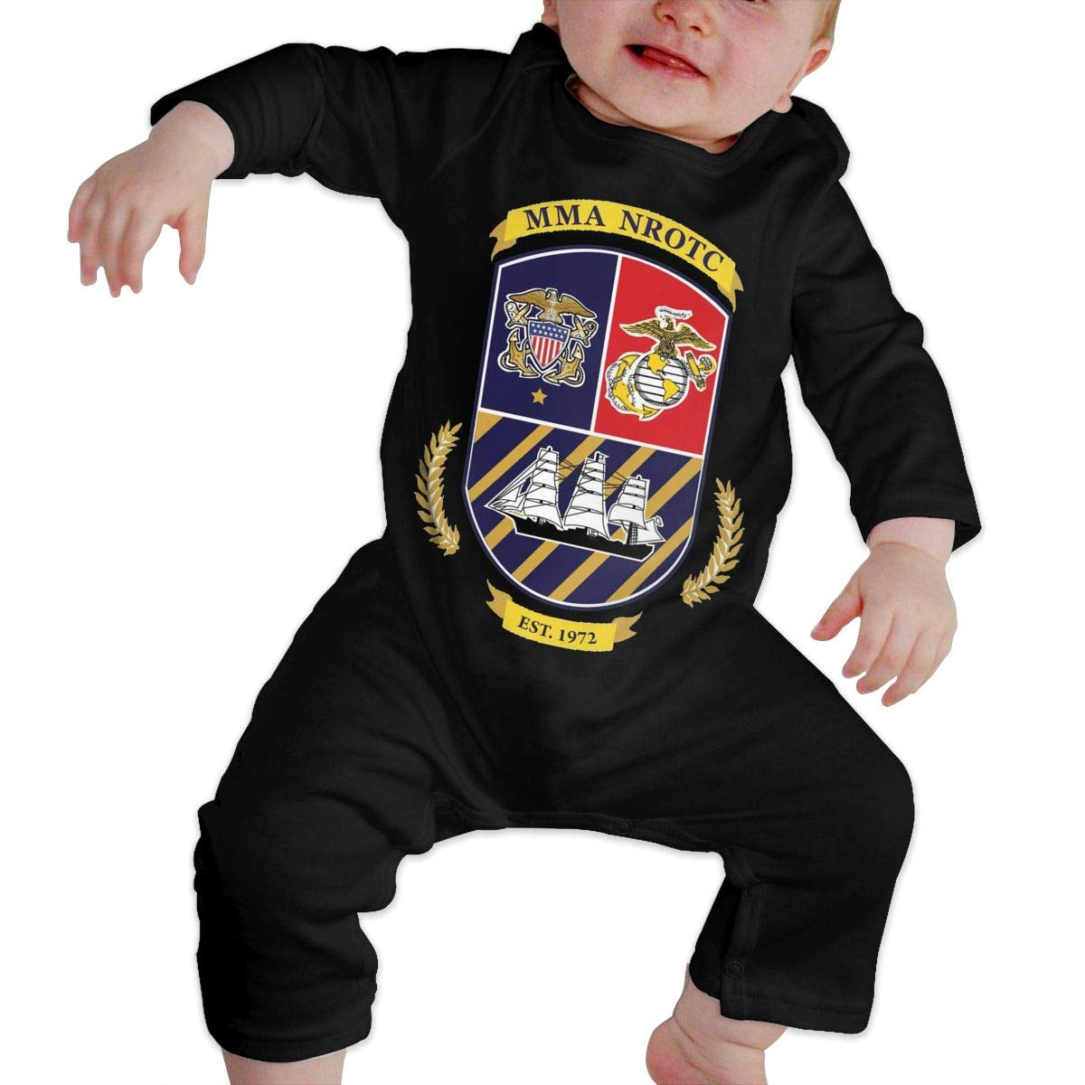 Fasenix Maine Maritime Academy Newborn Baby Boy Girl Romper Jumpsuit Long Sleeve Bodysuit Overalls Outfits Clothes