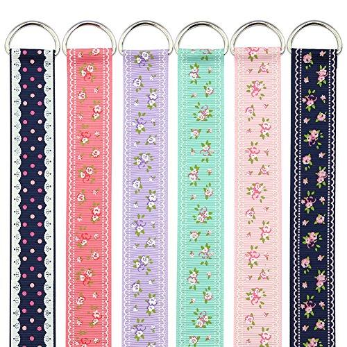 QtGirl 6pcs 19 Long Multicolor Kids Girls Ribbon Hair Bow Holder Hair Clips Storage Organizer Hanger