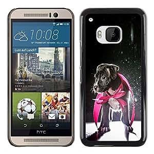 TopCaseStore / la caja del caucho duro de la cubierta de protección de la piel - Puppy Jack Russell Baby Dog Hero - HTC One M9